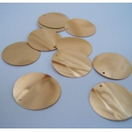"Large Round Sequins 24mm (1"") PALE GOLD"