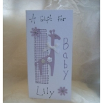Handcrafted MONEY WALLET. Giraffe.  NEW BABY. Colour Choice.  Personalisation available as option