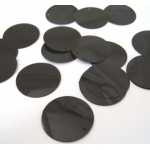 "Large Round Sequins 24mm (1"") BLACK GLOSS"
