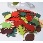 Mini Diecut LEAVES.  Autumn Mix.  3.5g pack