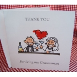 Thank you - GROOMSMAN Card with envelope (#1) Can be personalised.