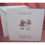 Thank you - for the CAKE Card, with envelope. (#2) Can be personalised.