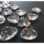 Scatter Wedding Table Diamantes. 12mm Hearts. 56g