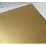 70 Round Labels. 25mm dia. Self-adhesive. GOLD. Printing/Box/tissue/envelope seals