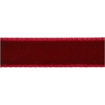 10m VELVET RIBBON 6mm wide DARK RED