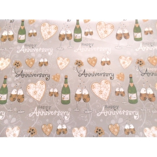 happy anniversary wrapping paper