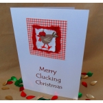 Handcrafted MERRY CLUCKING CHRISTMAS. Shabby Chic-ken
