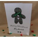 Handcrafted MERRY CHRISTMAS MY SWEET choice of Red/Green Tartan