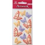 Artwork BUTTERFLIES Multi Handmade 3D Sticker Embellishments.