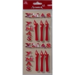 Artwork XL Handmade 3D Stickers Christmas Embellishments, Xmas Candles