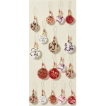 Artwork XL Handmade 3D Stickers Christmas Embellishments, Red & Gold Baubles