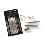 Copic ciao Double-ended Markers 5+1 Set which Inc fine Multi Liner, SKIN TONES.  RRP £15.95