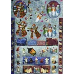 Dufex 3D Die Cut Decoupage Sheet Freestyle Snowmen