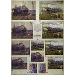 3D Decoupage Sheet. Dufex.  PYRAMEX. Trains 248704