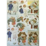 Dufex Foil 3D Die Cut Decoupage Sheet, Victorian Children in the Snow