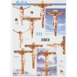 3D Decoupage Sheet. CHRIST on a Cross, Easter & Religious 4169816