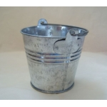 MINI METAL BUCKET.  Ideal for Favours etc.  ZINC/SILVERY finish