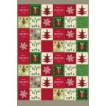 A4 Premium Self-Adhesive CARDSTOCK, Jingle Bells Checkered 200gsm