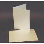 50 Card Blanks & C6 Envs.  natural White / True Ivory CENTURA PEARL. 149mm x 105mm