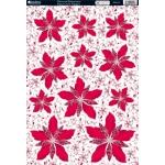 Kanban Diecut Topper Sheet A4, Glittered Poinsettias
