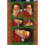 Kanban Die Cut Toppers A4, FATHER CHRISTMAS