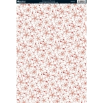BY the sheet, A4 background Christmas Cardstock 300gsm POINSETTIA Pattern