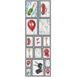 Die Cut Picture Stickers Sheet, Self adhesive CONGRATULATIONS