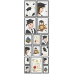 Die Cut Picture Stickers Sheet, Self adhesive GRADUATION