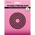 Crafts Too, Die Cutting & Embossing Stencils Nesting Set of 5, Scallop Circles