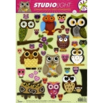 Die Cut Decoupage Images/Toppers Sheet, OWLS Shabby/Chic - Any occasion