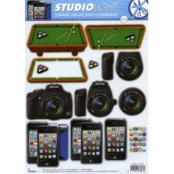 3D Die Cut Decoupage Sheet A4, Pool, Photography, smart phone