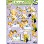 3D Die Cut Decoupage Sheet, Religious, 1st Holy Communion