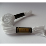 EMBROIDERY THREAD. 8m Skein, 100% Cotton. WHITE