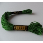 EMBROIDERY THREAD. 8m Skein, 100% Cotton. BOTTLE GREEN