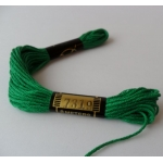 EMBROIDERY THREAD. 8m Skein, 100% Cotton. EMERALD GREEN