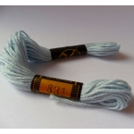 EMBROIDERY THREAD. 8m Skein, 100% Cotton. BABY BLUE