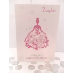 Handcrafted Card Cerise White BELLA PROM Formal *Wording Options*