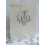 Handcrafted Card Silver Ivory BALLROOM PROM Formal *Wording Options*