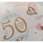 Gift Wrap Paper GOLDEN ANNIVERSARY, 50th Wedding