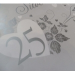 Gift Wrap Paper SILVER ANNIVERSARY, 25th Wedding