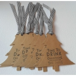 Brown Buff TOMI Tags, 8 Handcrafted Luxury Tags