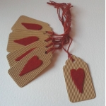 6 Handcrafted Rustic Gift Tags, Red TRUE Tags