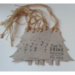 Rustic Check TYNE Tags, 8 Handcrafted Rustic Tags