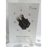 Handcrafted Card Black White WAISTCOAT PROM Formal *Wording Options*