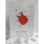 Handcrafted Card Red White WAISTCOAT PROM Formal *Wording Options*