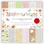 "NEIGHBOURWOOD 12"" x 12"" Papers, 24 Designer Papers 150gsm (34p Sheet)"