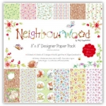 "NEIGHBOURWOOD 8"" x 8"" Papers, 36 Designer Papers 150gsm"