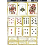 Die Cut Toppers Sheet A4, LARGE PLAYING CARDS poker etc