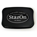 StazOn Solvent Ink Pad, for every surface, Jet Black