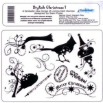 Unmounted Rubber Stamps Set A5, STYLISH CHRISTMAS #1